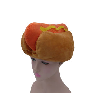 Hot Dog Shape Filling Cotton Stereo Plush Hat