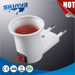 Good Quality! Plastic Lamp Holder with Plug pictures & photos