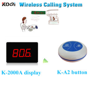 Ce Approved 433.92MHz Wireless Service Bell Restaurant Calling System pictures & photos