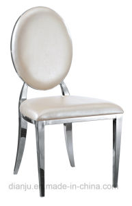 Round Back Stainless Steel Furniture Dining Chair (B886)