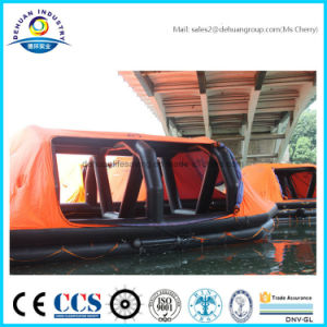 Throw-Overboard Self-Righting Inflatable Liferaft for 25 Person