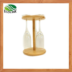 Natural Bamboo Wine Glass Holder for Table Decoration pictures & photos