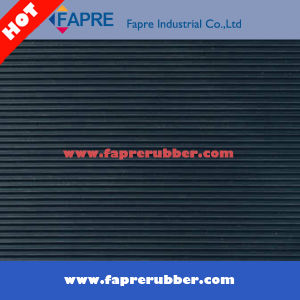 Black Fine Ribbed Rubber Flooring Mat for Workshop and Car