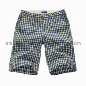 White and Black 100% Cotton Men′s Plaids Shorts (GT21382471) pictures & photos