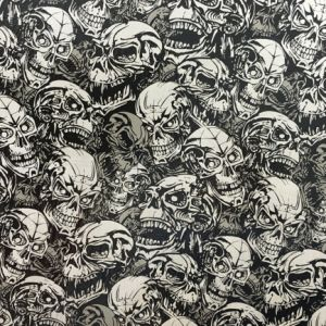 Kingtop 1m Width Skulls and Flame Design Hydro Dipping Liquid Image Film Wdf9061 1m