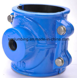 Ductile Iron Saddle Clamp for PVC Pipe
