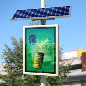 Solar Power Street Lamp Scrolling Light Box pictures & photos