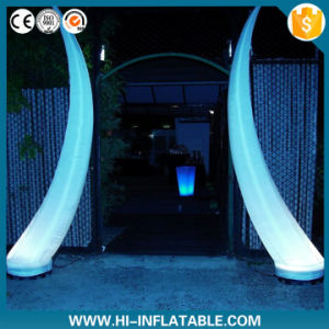 Wholesale Inflatable Decorations, LED Lighted Inflatable Elephant Tusk for Party, Nightclub, Disco Decoration