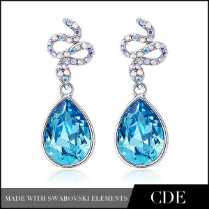 Fashion Heart Earring Jewelry with Diamond for Women (E0379A)