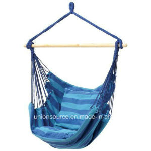 Hanging Hammock Chair with Wood Spread Bar