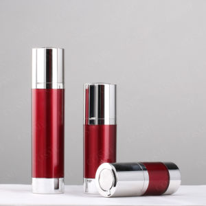 Airless Red Color Pet Lotion Bottle for Cosmetic