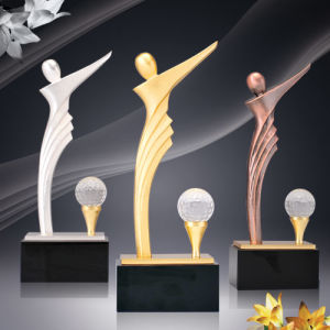 Customized Silver Metal Trophy with Injection Method