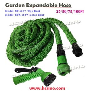 3 Screws Garden Water Hose with 7 Functional Spray Nozzle