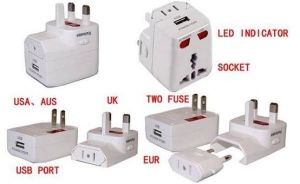 Universal Travel Plug Adapter with USB Charger (CH-119)
