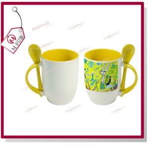 12oz Sublimation Ceramic Colored Spoon Mug with Printing pictures & photos