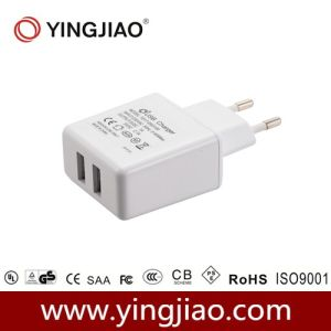 5V 2.1A 12W DC Double USB Adapter pictures & photos