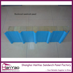 Fireproof Steel Rock Wool Sandwich Roof Panels pictures & photos