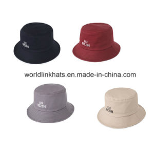 afee5d0bc75ae Wholesale Multi Colors Blank Embroidery Foldable Fisherman Bucket Hats