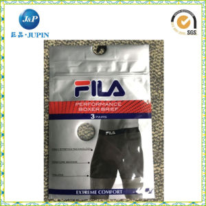 PVC Clothes and Underwear Plastic Bag, PVC Cosmetic Packing Bag with a Hook / Hanger and Button (JP-plastic004) pictures & photos