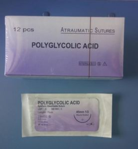Rapide Polyglycolic Acid Surgical Suture with Needle pictures & photos