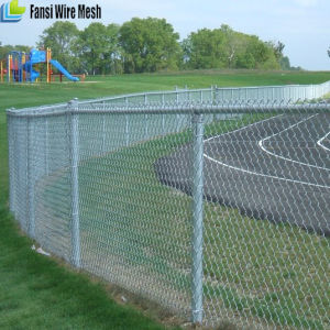 Hot DIP Galvanized Chain Link Fence with Barbed Wire