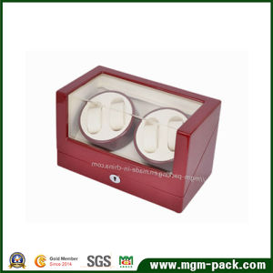 High Quality Red Wooden Watch Winder with Lock pictures & photos