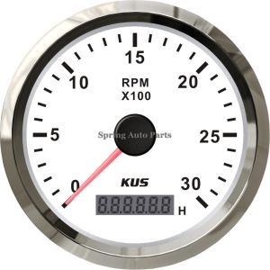 china popular 85mm tachometer rpm meter with hour meter 0 3000rpm