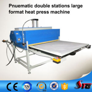 CE Automatic Pneumatic Large Format Double Stations T Shirt Sublimation Heat Press Machine pictures & photos