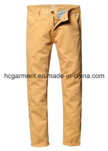 Walking Cargo Colorful Silm Chino Soft Cotton Casual Pants for Man pictures & photos