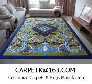 China Hand Tufted Rug Oriental Wool Custom Chinese Sculpted Rugs Area From