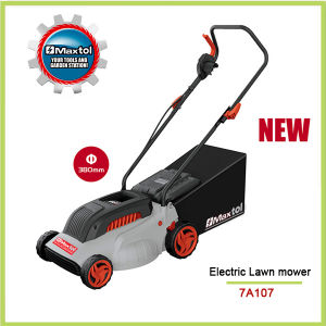1600W Professional 380mm Electric Lawn Mower with Height Adjustment