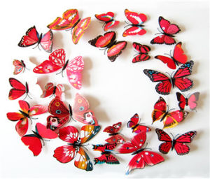 3D Colorful Butterfly Decorative Magnet PVC Wall Stickers Mural Decals For Home  Decor Living Room DIY
