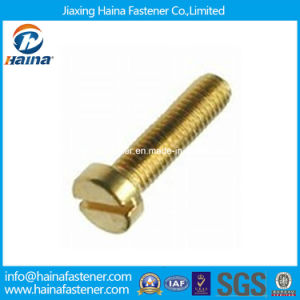 Brass Slotted Cheese Head Machine Screw DIN84 ISO1207 pictures & photos