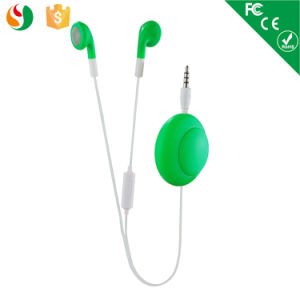New Style Retractable Earphone with Mic pictures & photos