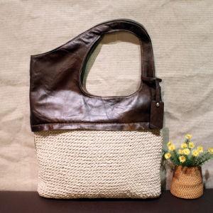 2017 Chaodai Genuine Leather Wonen Bag Cotton And Linen Handbag Female Shoulder