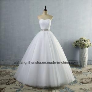 China Strapless Diamond Formal Crystal Beaded Wedding Dress China