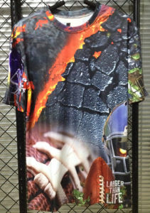 100%Polyester, Dry at Sight, 3D Print, Sublimation Print T-Shirt