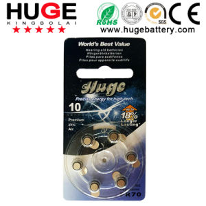 Industrial Pack 1.4V Zinc Air Battery Hearing Aid Battery (A10) pictures & photos