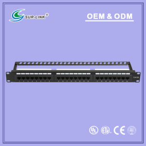 UTP CAT6A 24 Port Dual IDC Back Bar Patch Panel pictures & photos