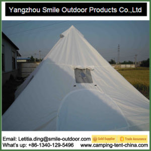 Double Faced Silica Coated Winter Camping Pyramid Travelling Tent pictures & photos