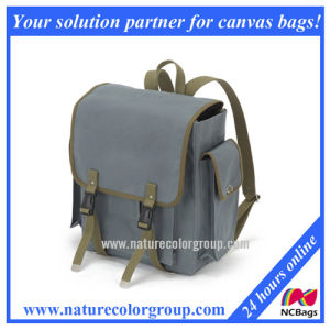 Fashion and Good Quality Canvas School Backpack for Student (SBB-046#)