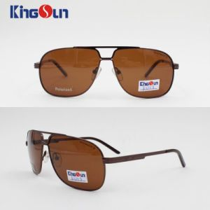 Hot Selling New Coming Fashion Men′s Metal Sunglasses with Mono Block Temple pictures & photos