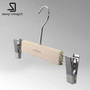 Luxury Wooden Suit Hanger, White Clothes Hanger with Bar pictures & photos