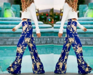 Hot Seller European New Straight Floral Printing Trousers for Women pictures & photos