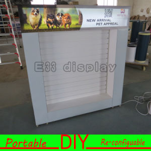 Custom Portable Modular Slatwall Exhibition Display Stand with Easy Set-up