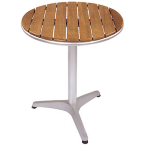 Round Aluminum Wooden Dining Table (DT-06260R1) pictures & photos