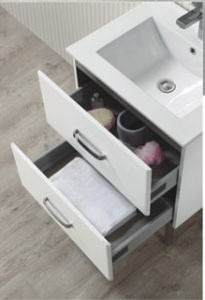 High Gloss White Wicker Drawer Cabinet Bathroom with Mirror pictures & photos