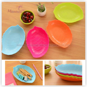 Leaf Candy Plate Fruit Dishtray Sundries Plastic Storage Tray pictures & photos