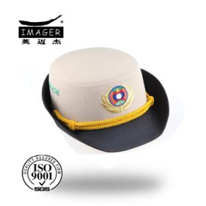 f4c0541a661 China Woven Badge Female New Pattern Bucket Hat with String - China ...