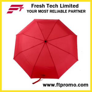 Custom Promotional Auto Open/Closed Folding Umbrella with Logo pictures & photos
